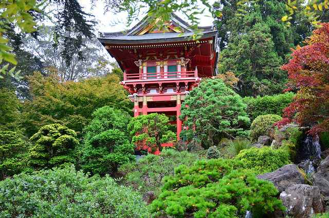 Japanese tea house San Francisco Golden Gate Park