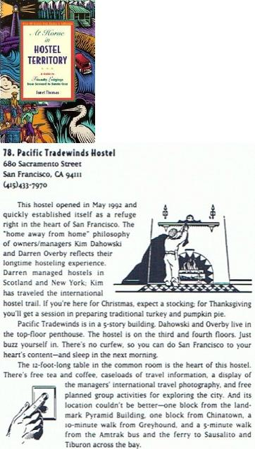 At Home in Hostel Territory: A Guide to Friendly Lodgings from Seward to Santa Cruz - guide to inexpensive, friendly accommodations from Alaska to California