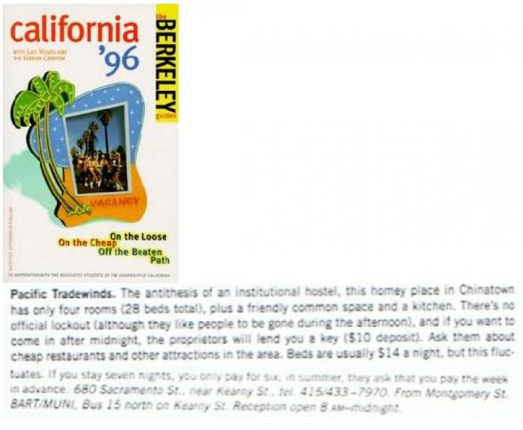 Berkeley Guides: California '96 with Las Vegas and The Great Canyon - On the loose, on the cheap, off the beaten path
